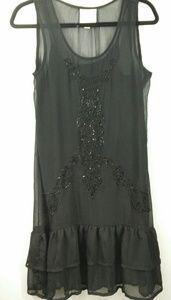 ROMEO&JULIET COUTURE Black Beaded Dress S